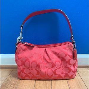 Coach Red Signature Soho Shoulder Bag
